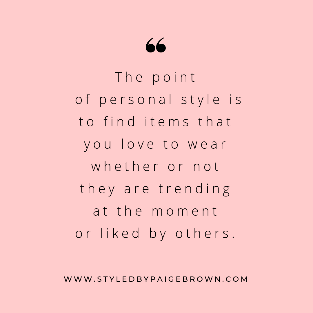 The Point of Personal Style