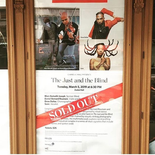 Two words: SOLD OUT. . . Get ready for 'The Just and the Blind', tonight at @CarnegieHall to kick off the 2019 Create Justice Forum!