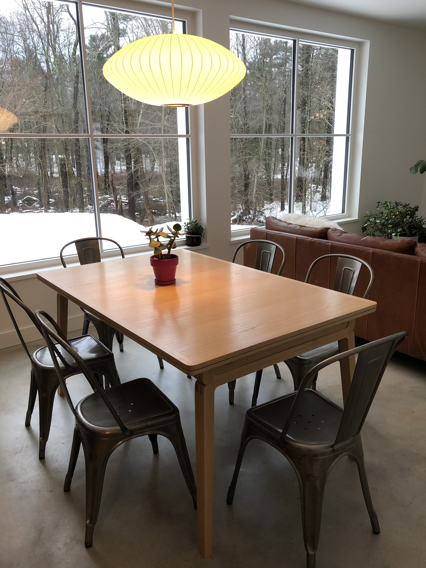 Draw leaf dining table