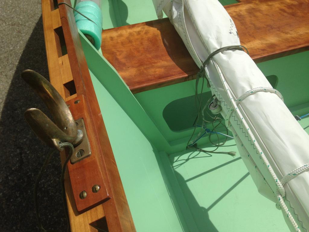 Goat Island skiff, detail