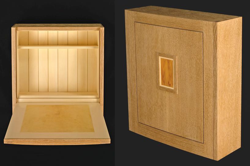 Rift oak wall desk
