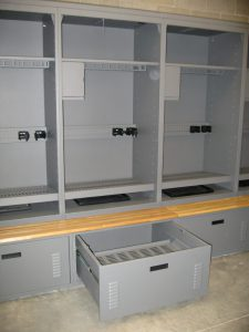 Freestyle lockers at Carbondale Police Department