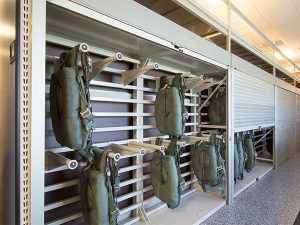 Parachute Racks with Tambour Doors