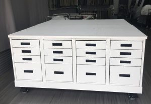 Cutting Table with Drawers