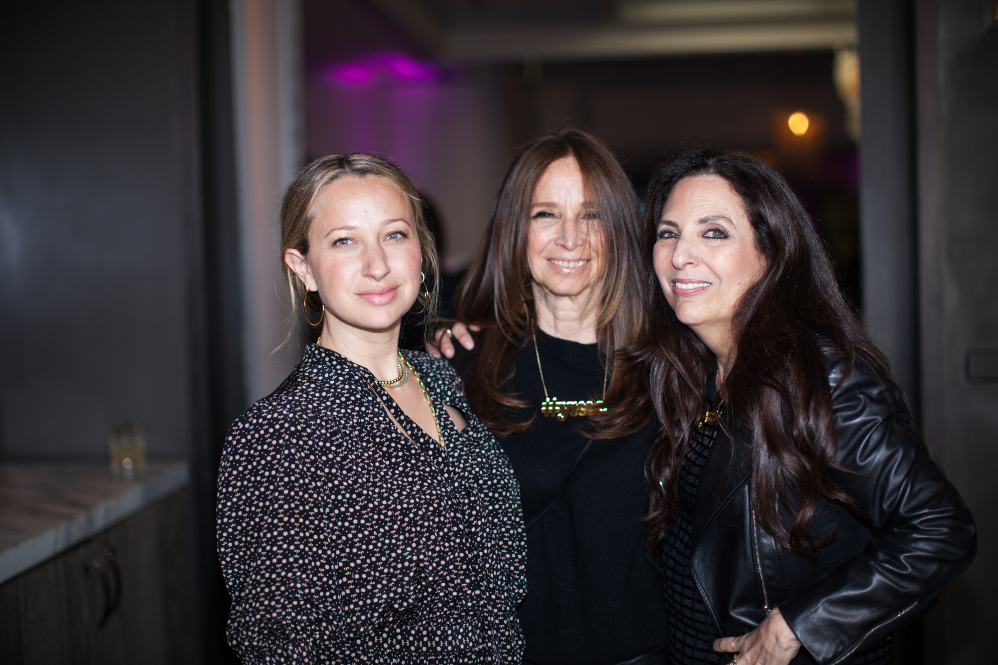 Cofounder Sharon Feldstein with Ellen and Jennifer Meyer