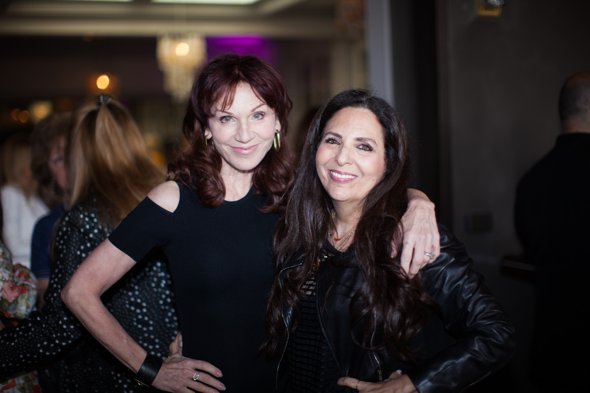 Cofounder Sharon Feldstein with Marilu Henner