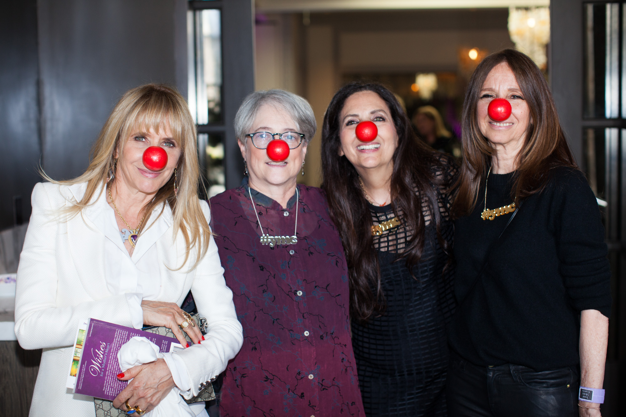 Cofounders Sharon Feldstein and Patsy Noah with Rosanna Arquette and Ellen Meyer