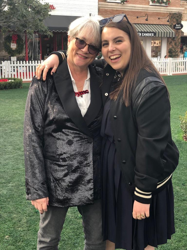 Cofounder Patsy Noah with Beanie Feldstein