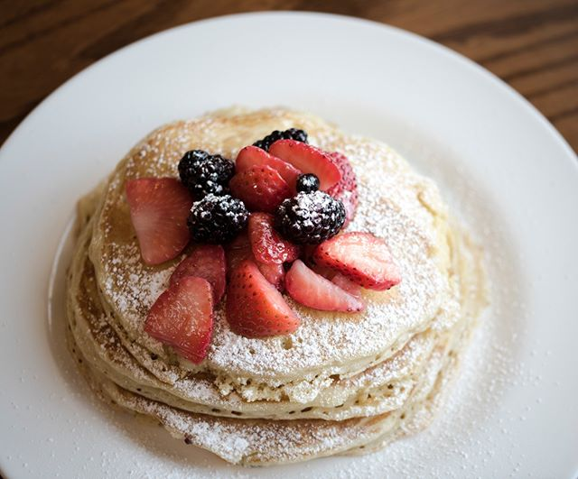 Nothing like starting your day off with a short stack topped with fresh berries😋