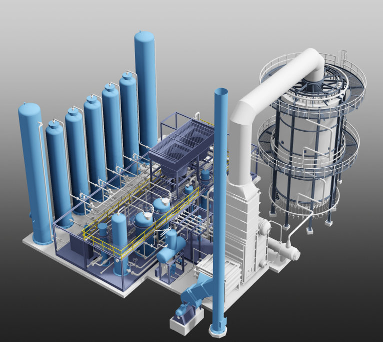 5.5 MM SCFD SMR H2 Generation Plant