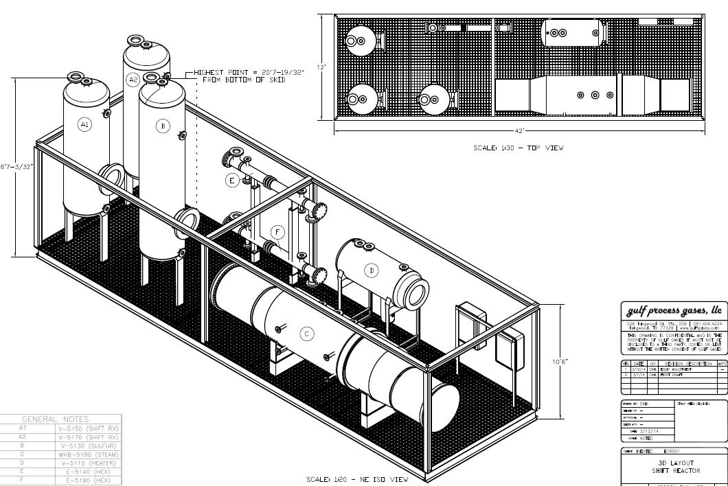2 MM SCFD High Temperature Shift Reactor