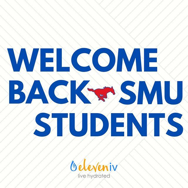 Welcome back SMU Students!💥💥 Pony up!❤️💙🐎 . . . #eleveniv #livehydrated #ivtherapydallas #hydration #ivhydration #ivtherapy #ivvitamindrip #ivdrip #ivvitamintherapy #universitypark #immunity #energy #dallas #health #ivtherapysolutions #wellness #parkcities #highlandpark #smu #b12shots #smustudents