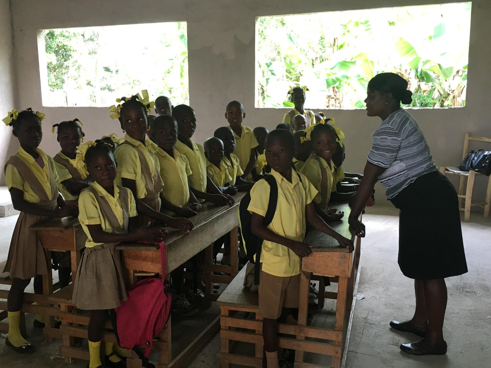 Classroom in Cima School of Hope