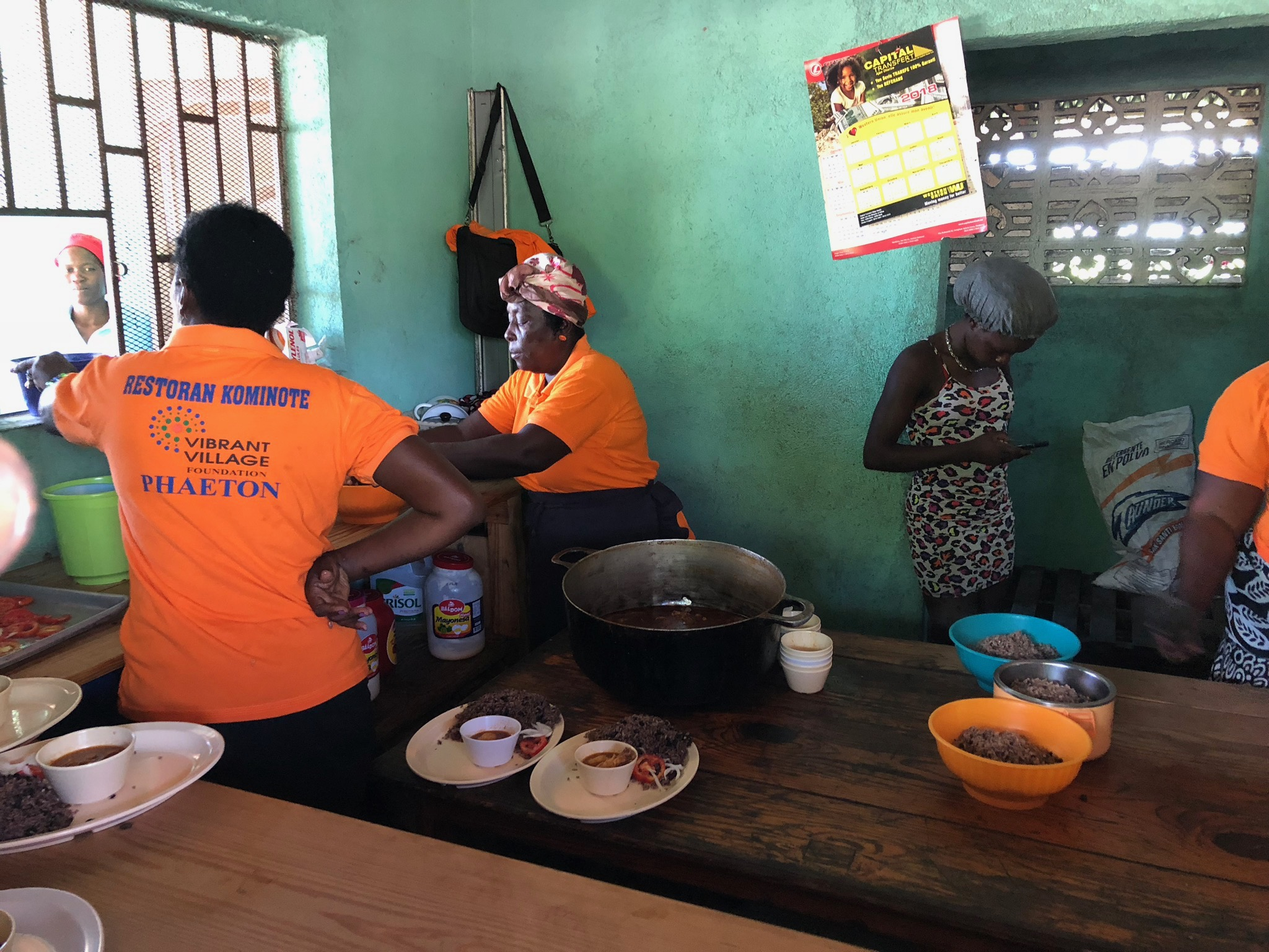 A community diner in Phaeton where start up money was provided by Sonje Ayiti.