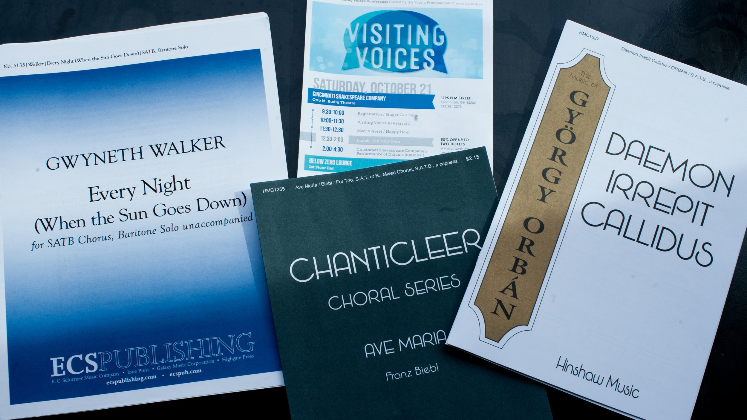 Partial Program of Music from Visiting Voices, October 2017