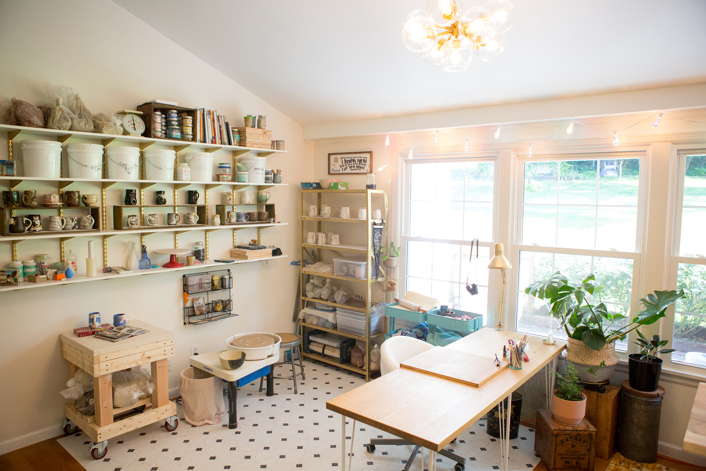 A haven for creatives - with all of the coffee and tea you want provided.