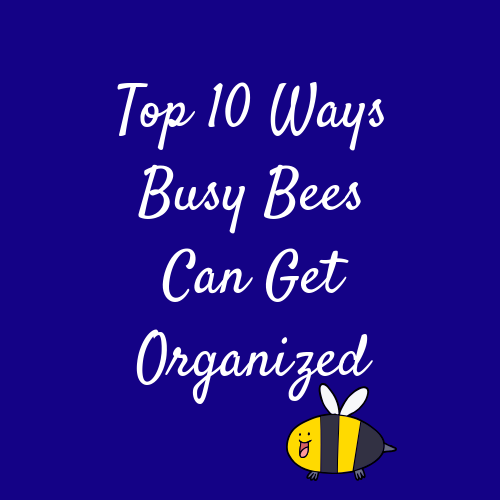 Top 10 Ways Busy Bees Can Get Organized - The Top Ten Ways Busy Bees Can Get Organized is a video crash course on how to overcome clutter of all types and pull forward in both your personal and professional life. It addresses the key areas of disorganization, what causes them, and both the short and long term fixes or them. All broken down for you in, of course, an organized way!You can purchase and access the course HERE