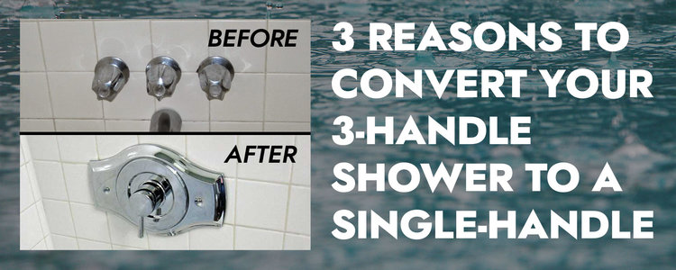 3 Handle Shower To A Single