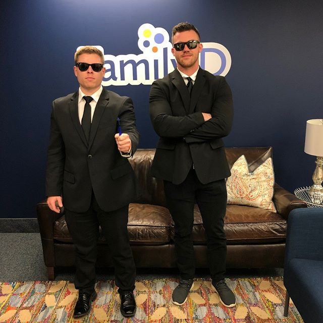 Our resident Men In Black are here to erase any memories of pesky paperwork! #happyhalloween