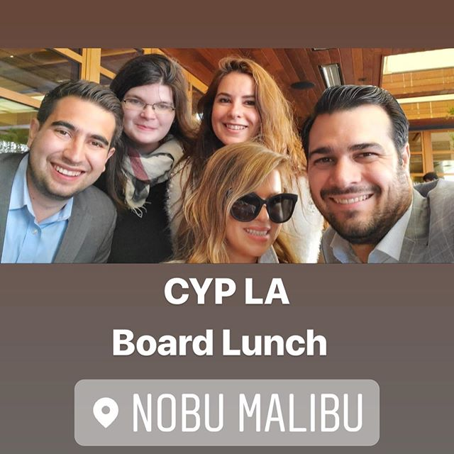 Refreshed & recharged! The CYP LA Board (most of the board) ventured out of LA to @nobumalibu for an incredible meal & catch up.  #nobu #malibu #catholic #latino #leaders #community #youngprofessionals #california #losangeles #nobumalibu #sushi #caviar #dolphins #easterseason