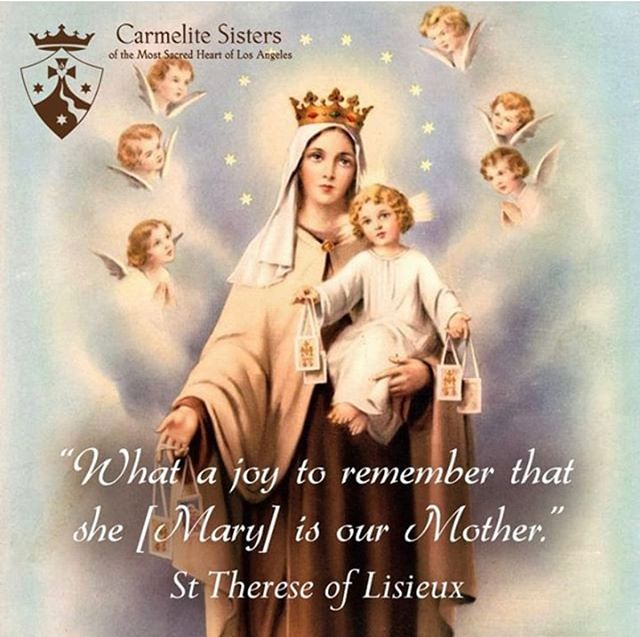 Happy Feast of Our Lady of Mount Carmel!! #carmelites #mary #carmel #scapularpromise #carmelitespirituality #losangeles #catholic #youngprofessionals #love #roses #desert