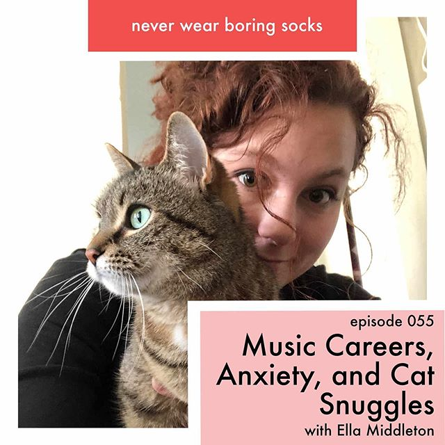 We just released a new episode with @nutellachristine! We talked all about being an artist and how that relates to your career, anxiety, comparison, making music, and the importance of creating your own definition of self care. Which may or may not include snuggles with friends of the feline variety 🐱😉 . . . . #selfcare #musician #musiccareer #anxiety#mentalhealth #womenwhopodcast #podcast #musicpodcast