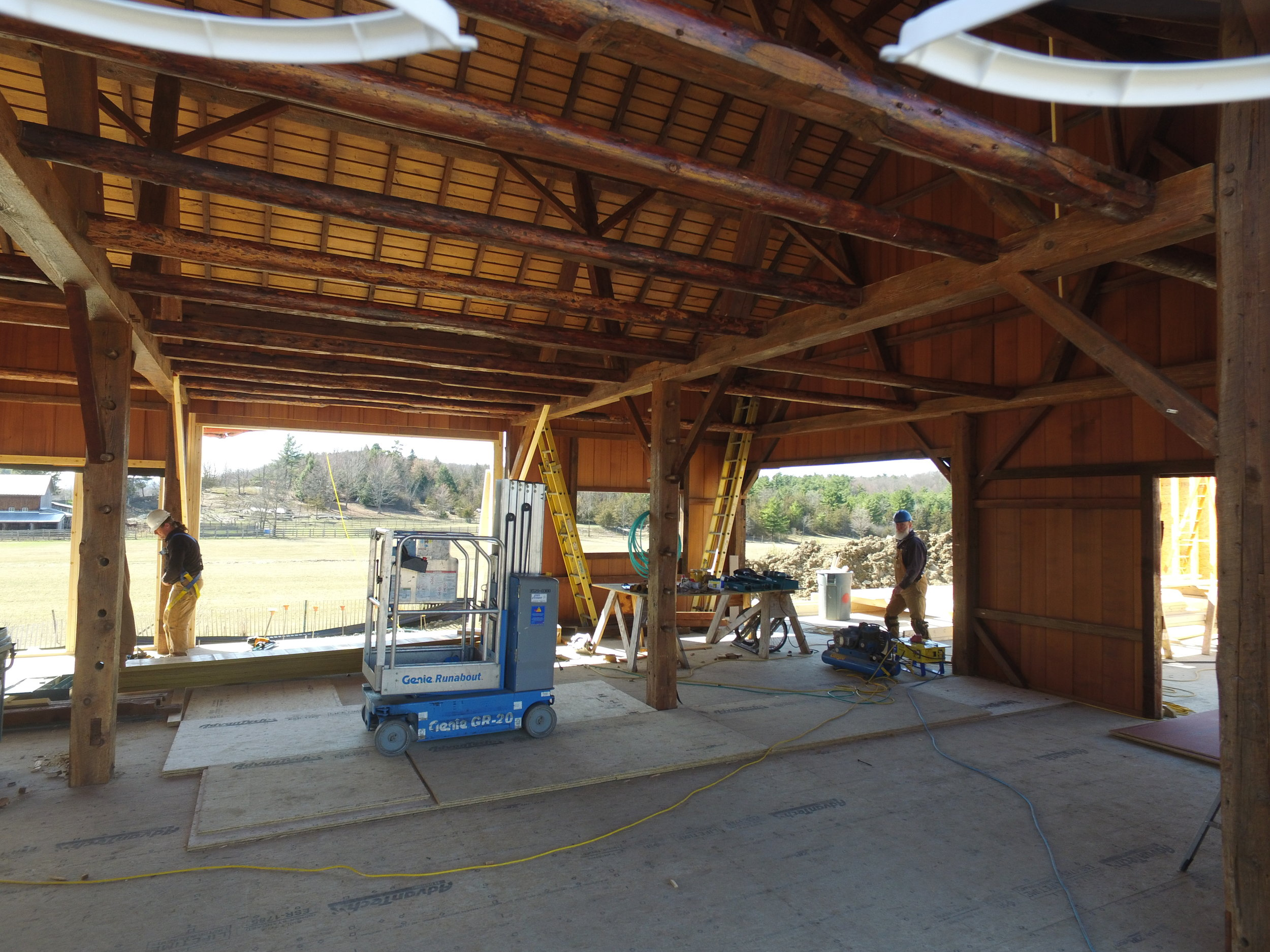 The Garen Barn being reconstructed to become the heart of our Market.
