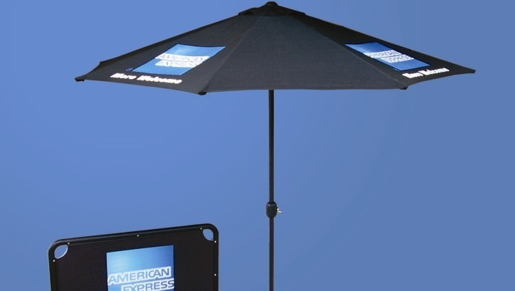 Cafe Umbrellas & Breeze Barriers -