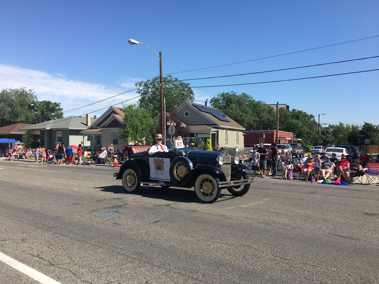 Mr. Richard Rouse and his 1931 Model A Ford advertising for Historic Murray First Foundation in the Murray 4th of July Parade