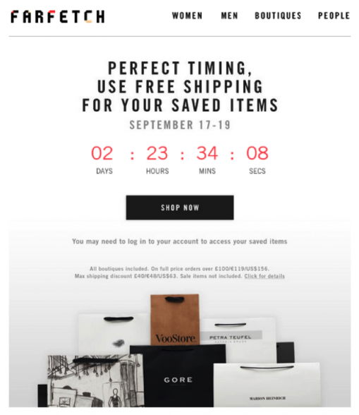 """Mention a specific deadline (i.e. """"ends November 31st"""" instead of """"ends soon"""") and add a countdown timer to increase urgency and drive even more sales."""