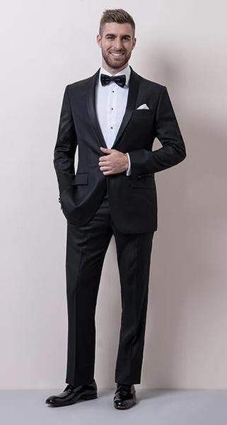 Classic Black Tie - It's a tradition for a reason. The black tuxedo ensemble is the most formal suit there is.