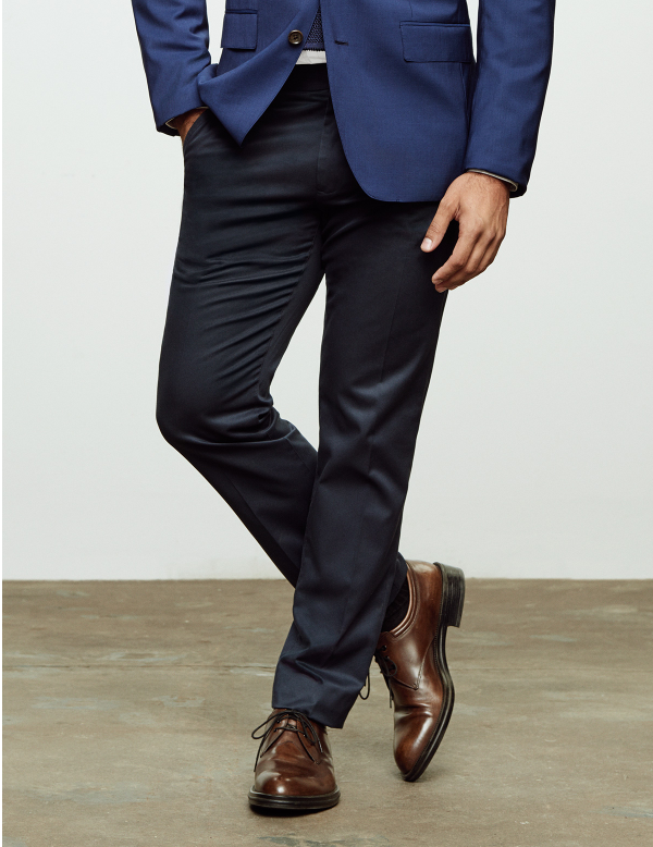 Every Day Dress Trousers - We've taken your basic dress pant to a whole new level, combining classic office colours with premium wool's and excellent fits. Its the smartest way to start dressing for the job you want, the one you're in or the company you run.Add a matching jacket and you've got yourself the ultimate suit.