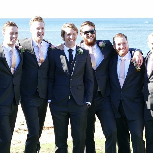 Congratulations to George and his groomsmen on such a big day. And looking so elegant, dressed by George and his team at Macquarie shopping centre. #wedding #groomsmen #groom