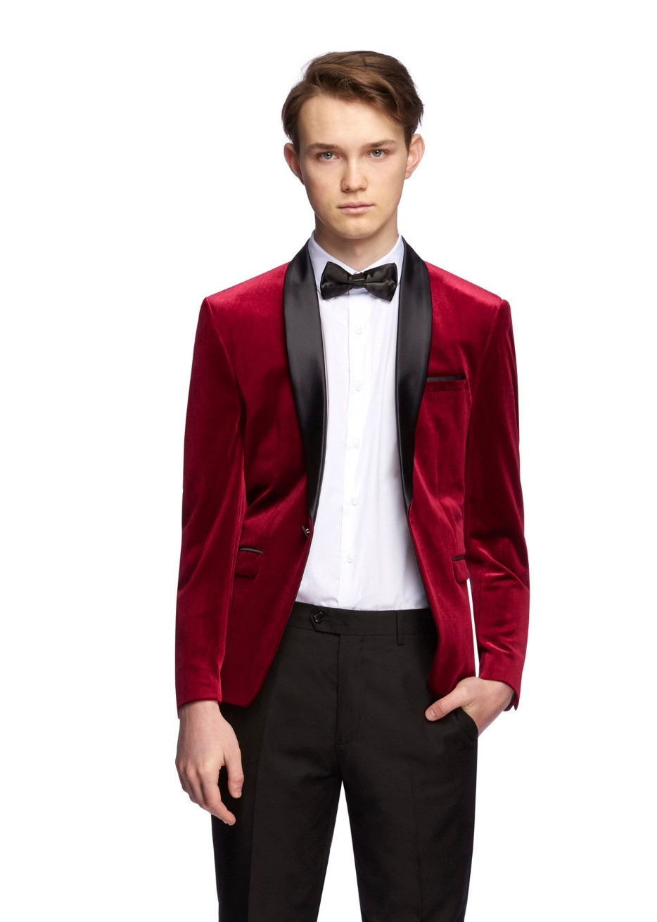The Velvet Tuxedo Package $249. - Own the whole outfit. The jacket, shirt, slim fit pant and bow tie. Wear the jacket later with a pair of jeans, look the coolest at every party.