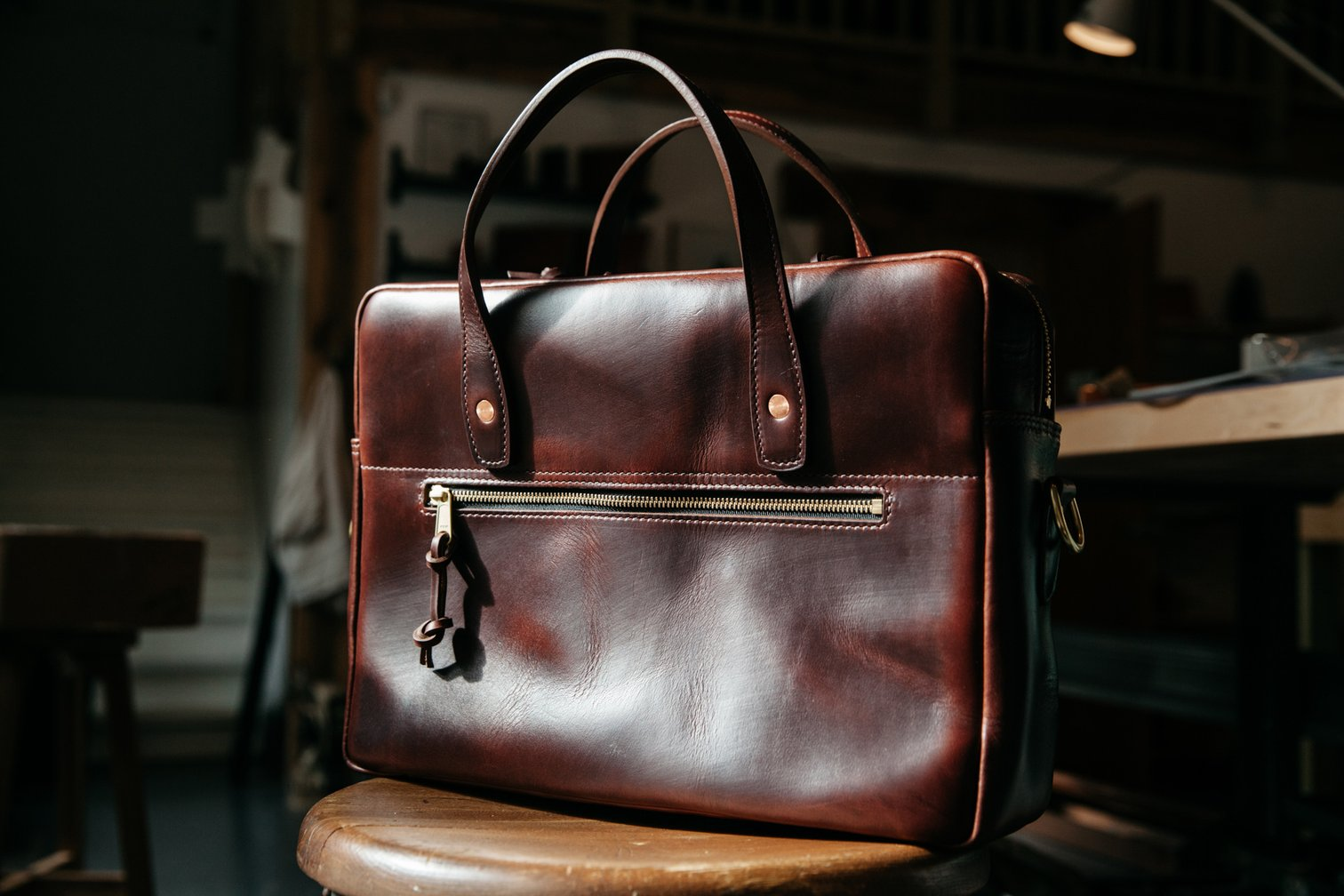 Loyal Stricklin Briefcase | Rich Tan Chromexcel