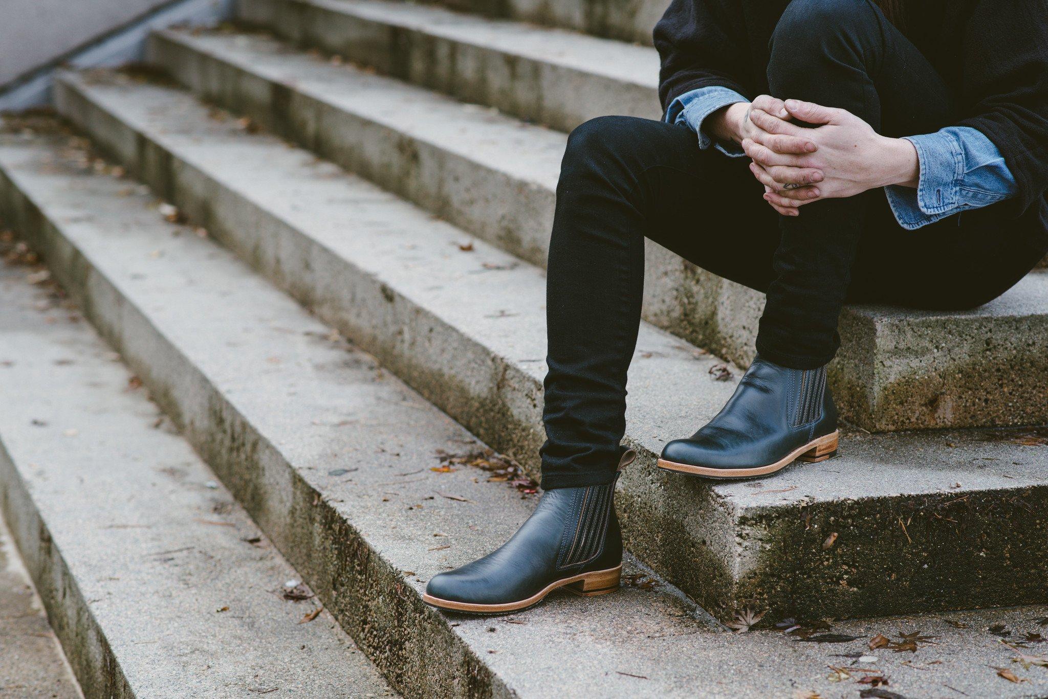 Love Jules Leather Chelsea Boots | Black Chromexcel