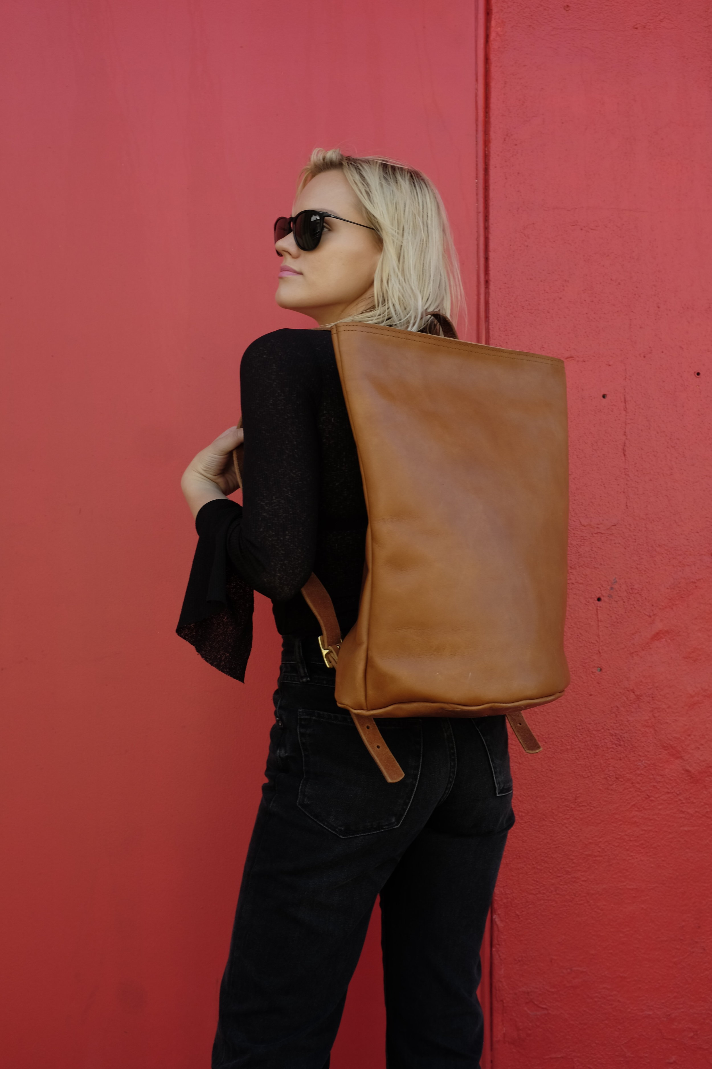 KikaNY Harvest Backpack | Chicago Tan Latigo