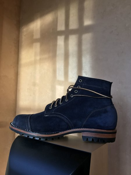 Truman Boot Co Roughout Boot - Janus Butt in Midnight Navy