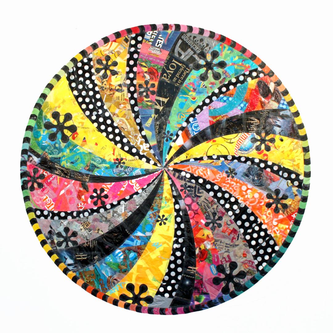 """Dot Mandala (2011) - 72"""" dia."""
