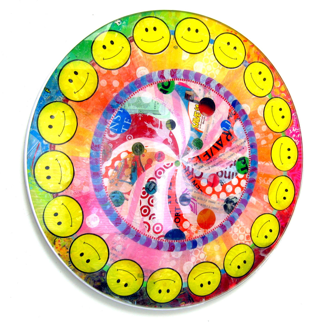 "Smiley Pop Mandala (2008) - 45"" dia."