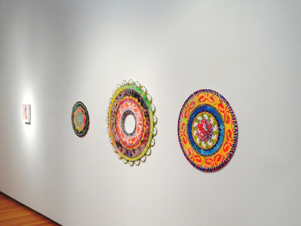 View of 3 mandalas