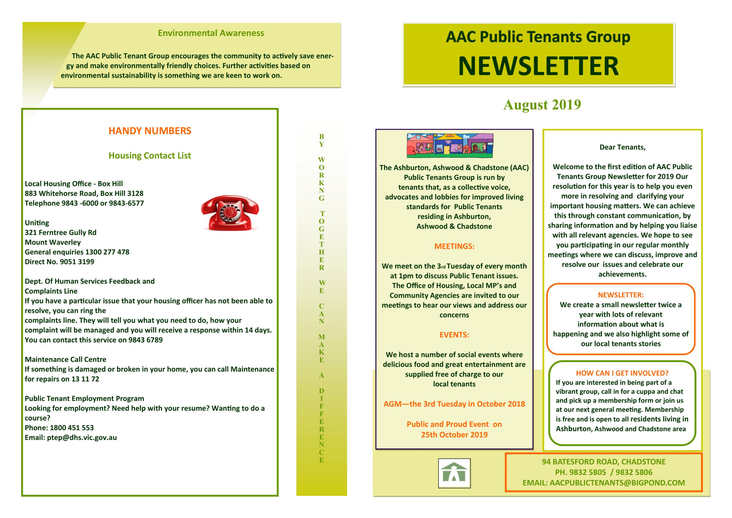 Click For Newsletter -