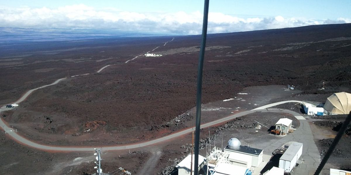 High levels of carbon dioxide levels measured atop Mauna Loa