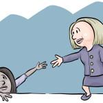 hillary extend a hand
