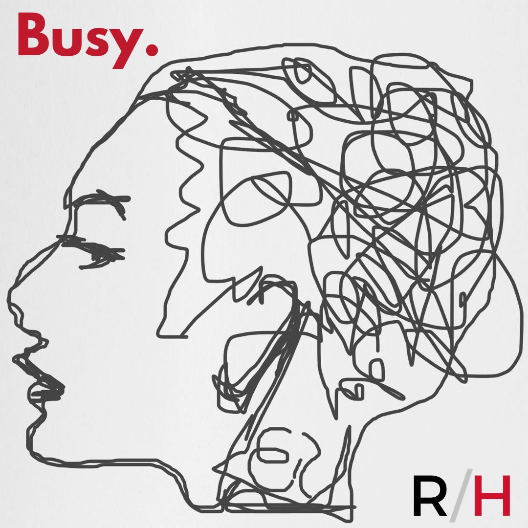 woman busy