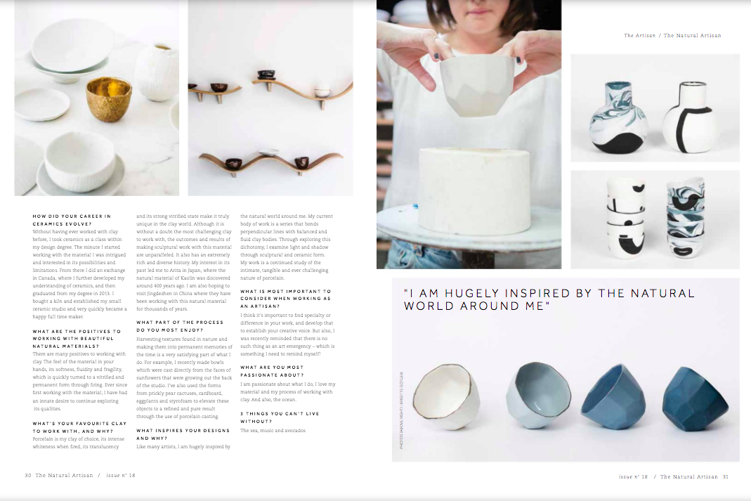 The Natural Artisan Milly Dent Ceramics