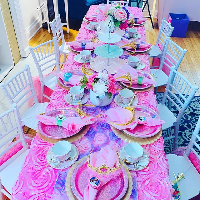 Tea party time is the best time. A memorable time was had by all celebrating a princesses 5th birthday.  #gracefulcelebrations #princessteaparty #mobileteaparty