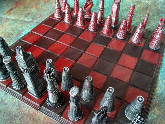 Steampunk Chess set.