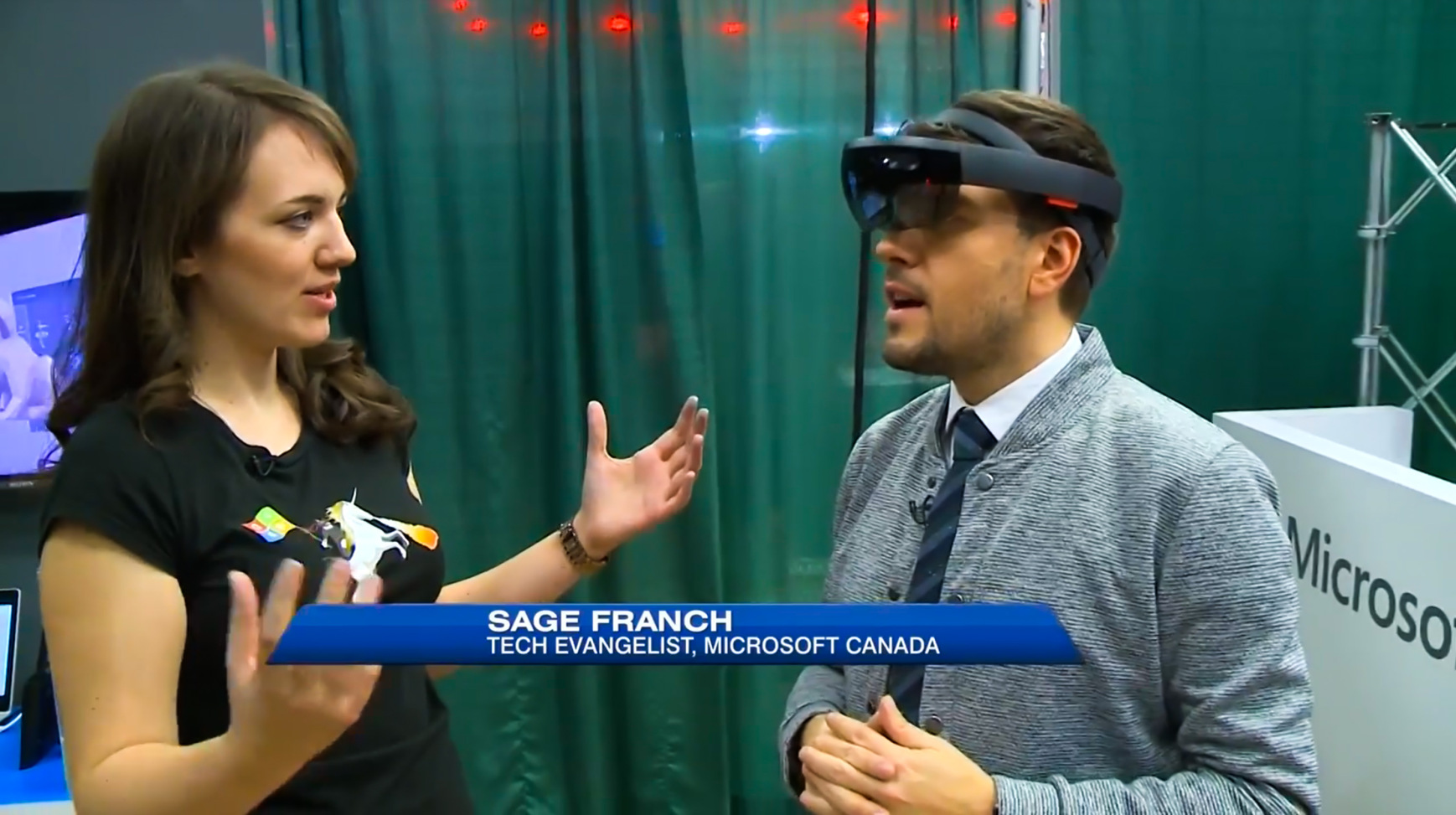 Breakfast Television Montreal: Mixed Reality on HoloLens