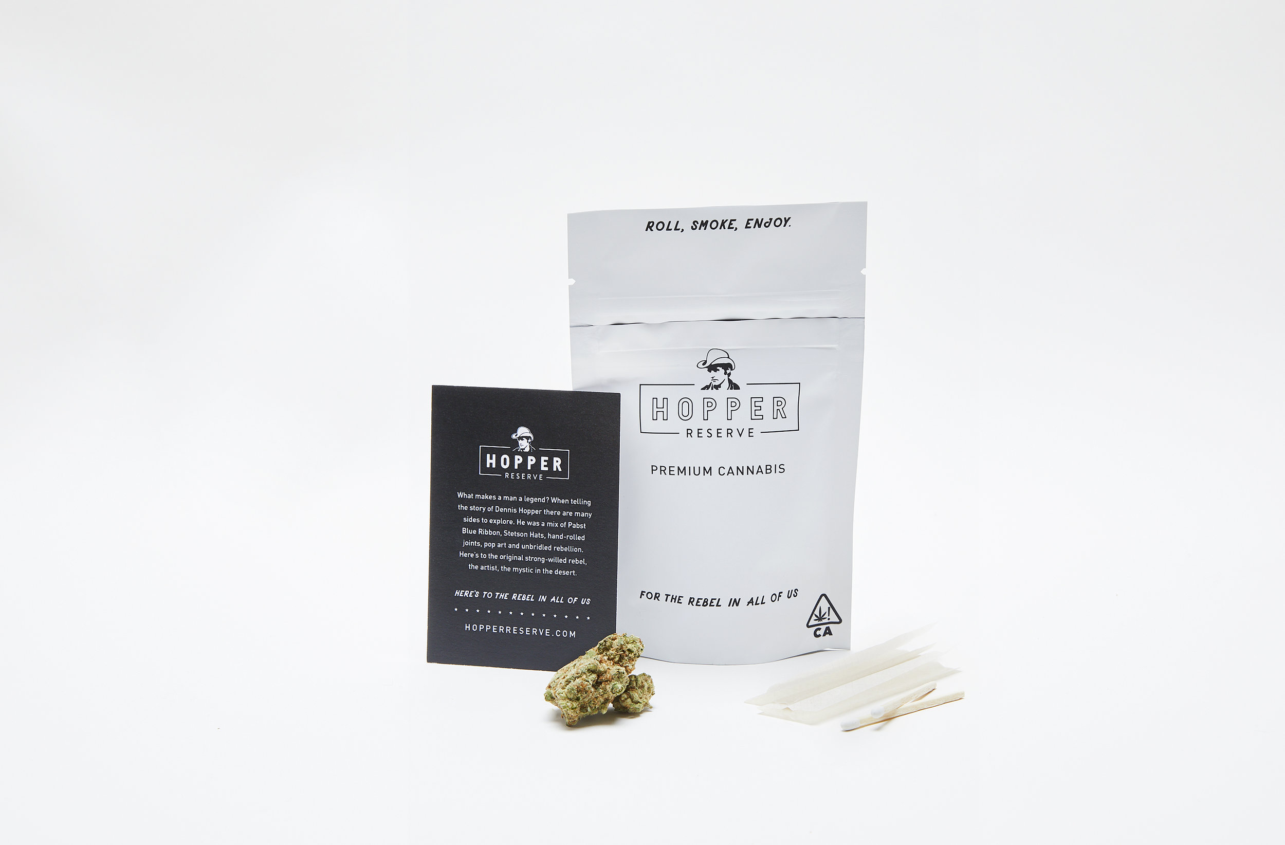 Indica Blend : For The Strong-willed Rebel - This bag contains:1 Gram of premium flowerPapers for rollingMatches for toking